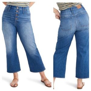(NWT) Madewell Slim Wide-Leg High Rise Crop Jeans